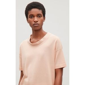 COS Relaxed Short-Sleeve Top in Blush Size Large